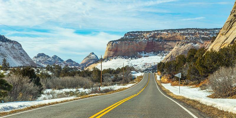 Route 66 en hiver